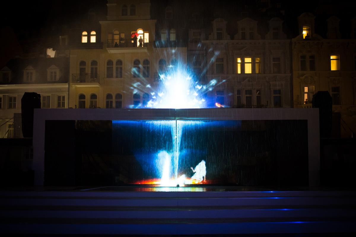 Indoor Water Screen Projection